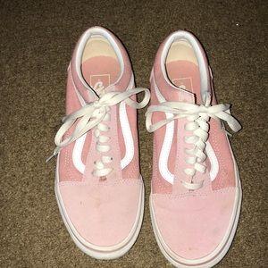 pink vans old skool